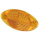 Prophete Speichen-Reflektoren mit Sicherheitsclips, 4 Stück Speichenreflektoren, orange, L