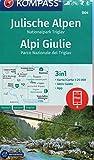 Julische Alpen, Nationalpark Triglav, Alpi Giulie: 3in1 Wanderkarte 1:25000 mit Aktiv Guide inklusive Karte zur offline Verwendung in der KOMPASS-App. ... Langlaufen. (KOMPASS-Wanderkarten, Band 64)