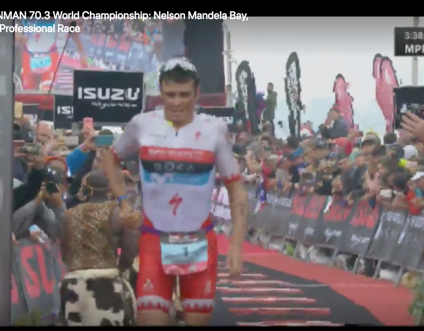 Javi Gomez, 3rd place at 70.3 Worlds 2018