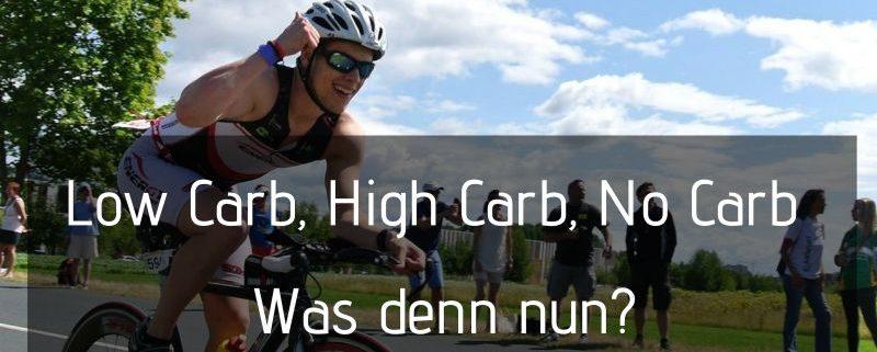 low carb high carb no carb ausdauersport ernährung